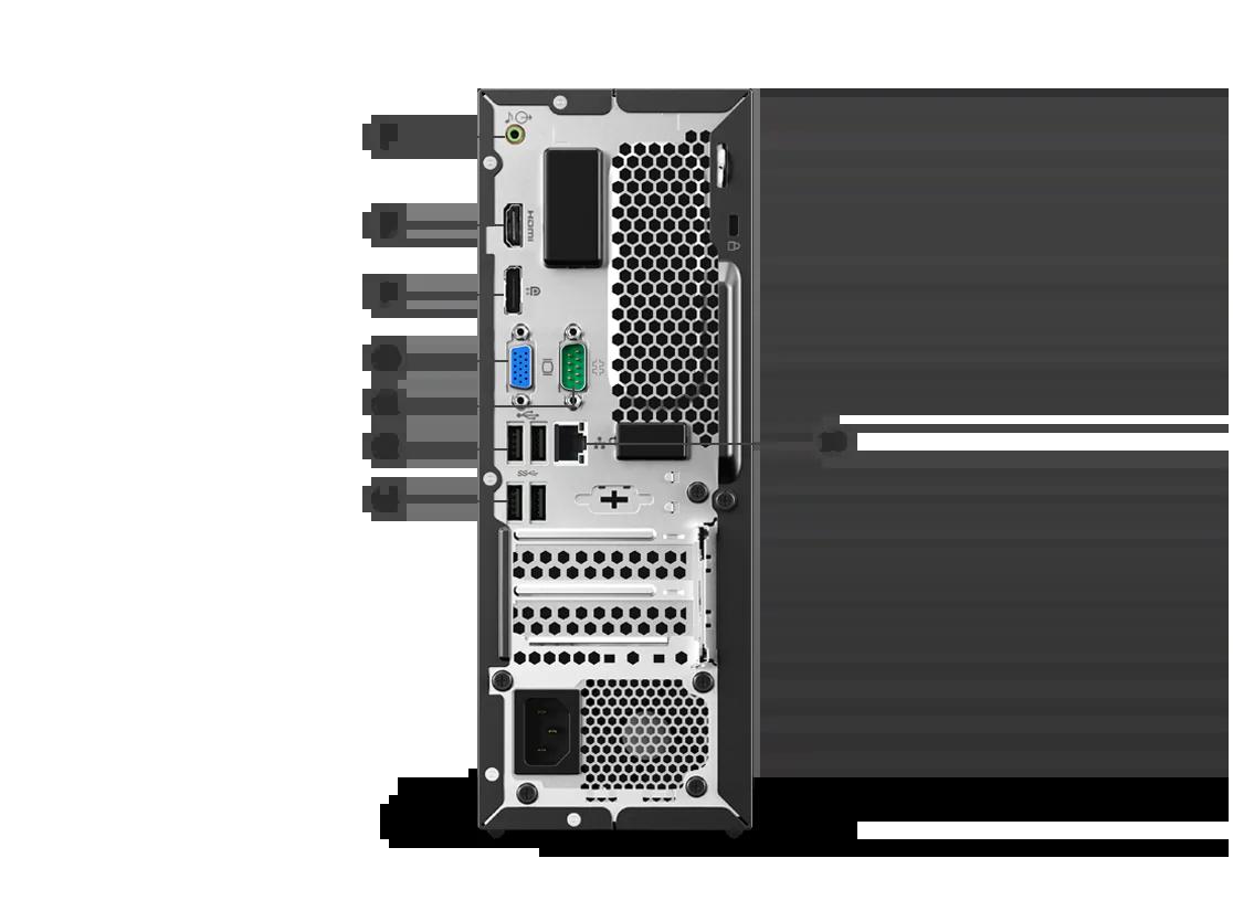 Lenovo Desktop v530s Tower port label back