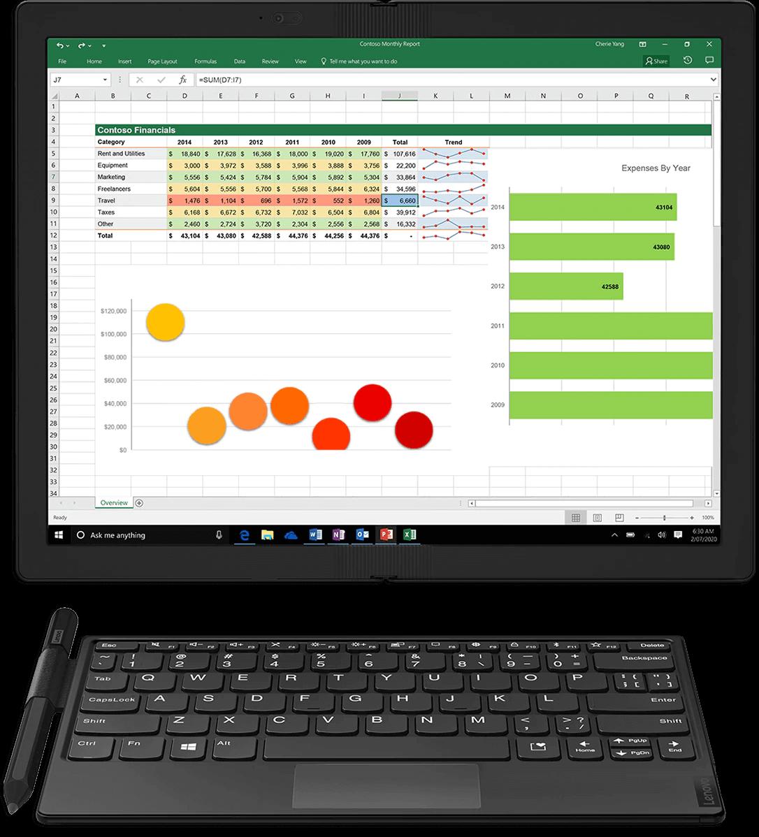 Lenovo Fold Mini Keyboard and monitor