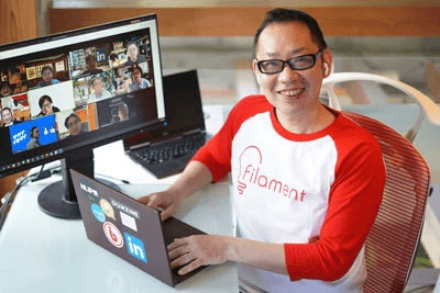在宅勤務はオープンイノベーションの第一歩――株式会社フィラメント 代表取締役CEO 角 勝氏