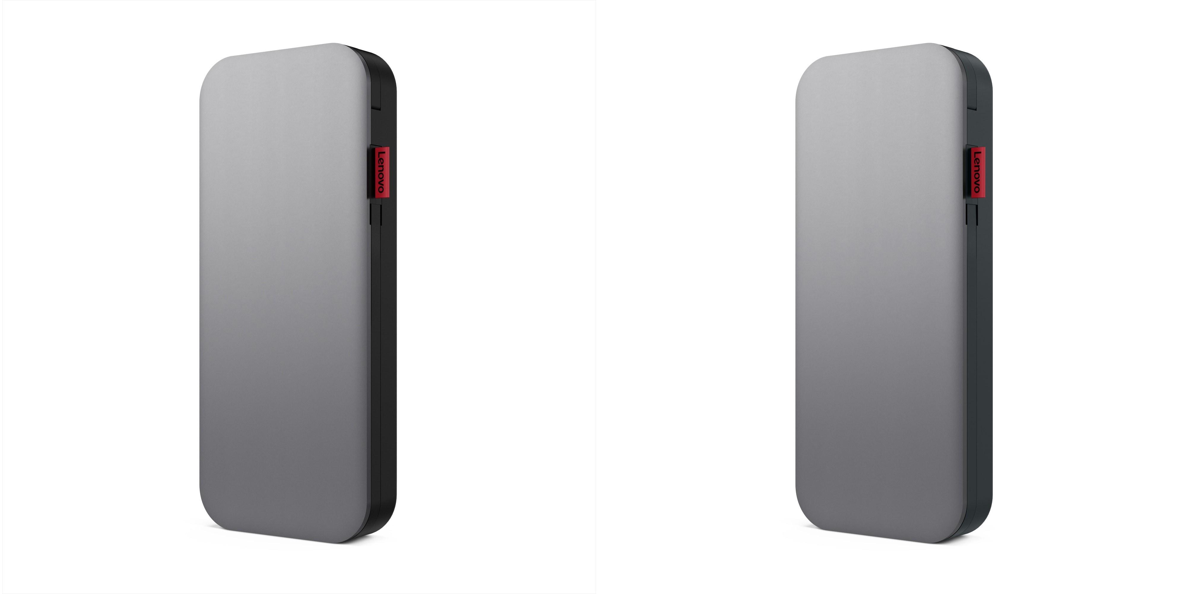 Lenovo Go USB Type-C ノートブックパワーバンク 20000mAh(ブラック/グレー)