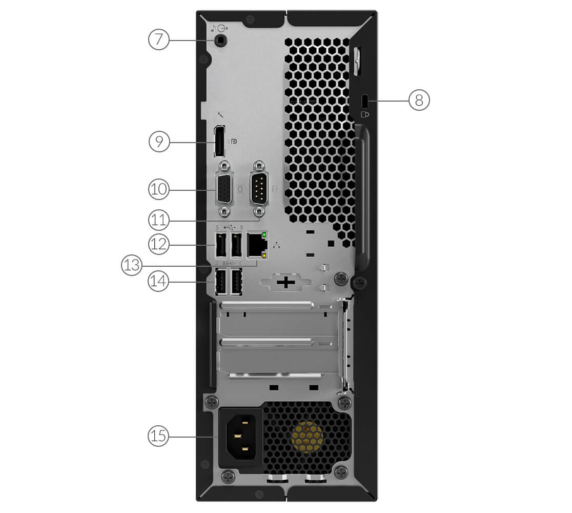 Lenovo ThinkCentre M720e Ports