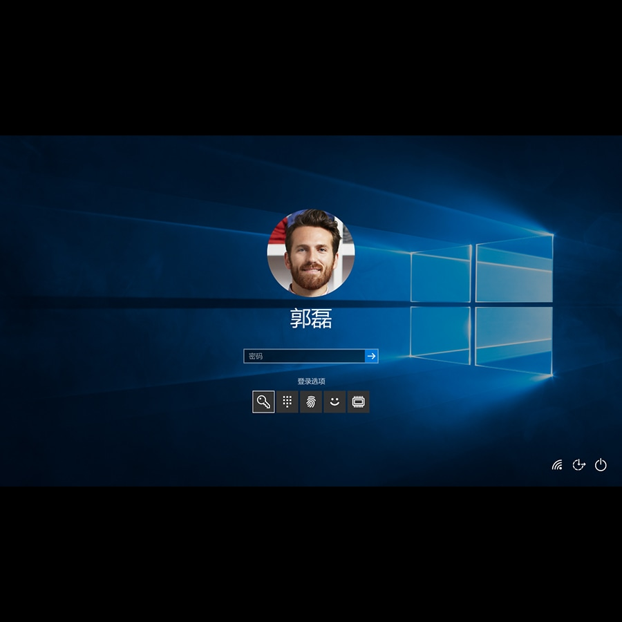 Windows 10 sign in screen