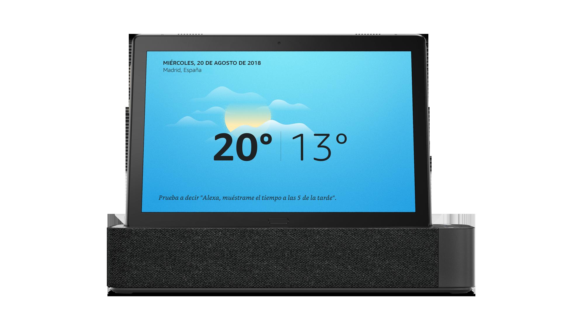 Lenovo Smart Tab con el tiempo
