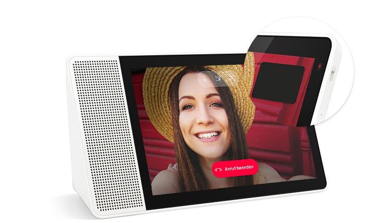 Kameraabdeckung am Lenovo Smart Display 8 und 10