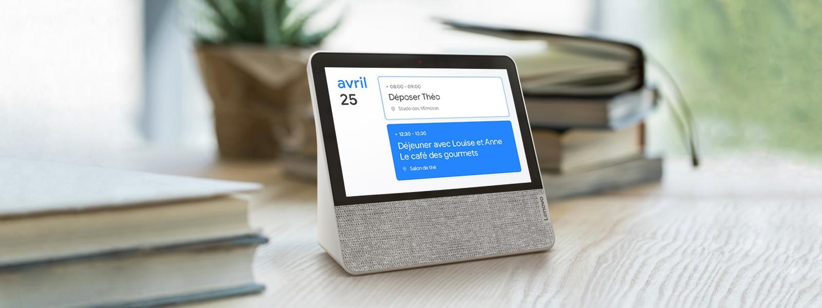 Lenovo Smart Display 7 vous aide à gérer votre agenda quotidien.
