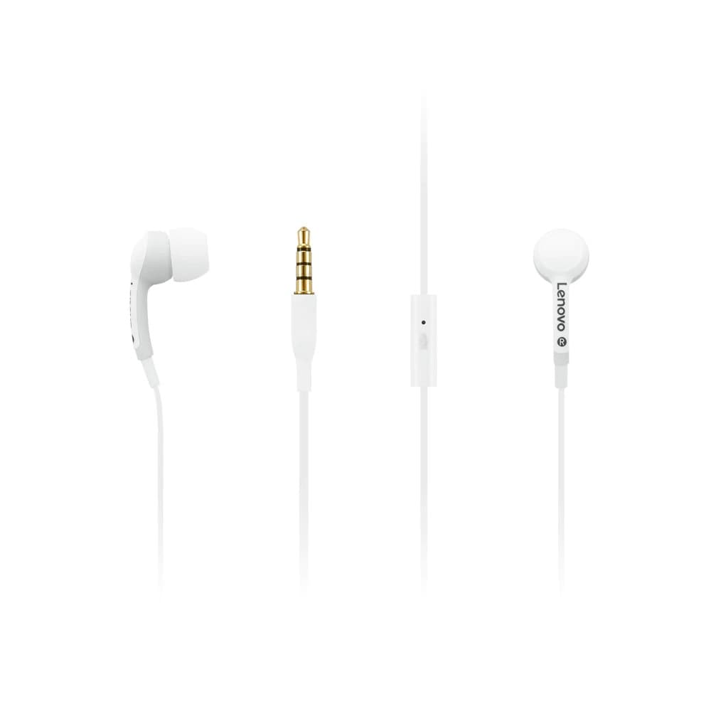 Lenovo 100 In-Ear-hörlurar – vita