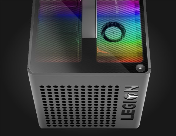 Lenovo Legion C730 gaming cube, top view