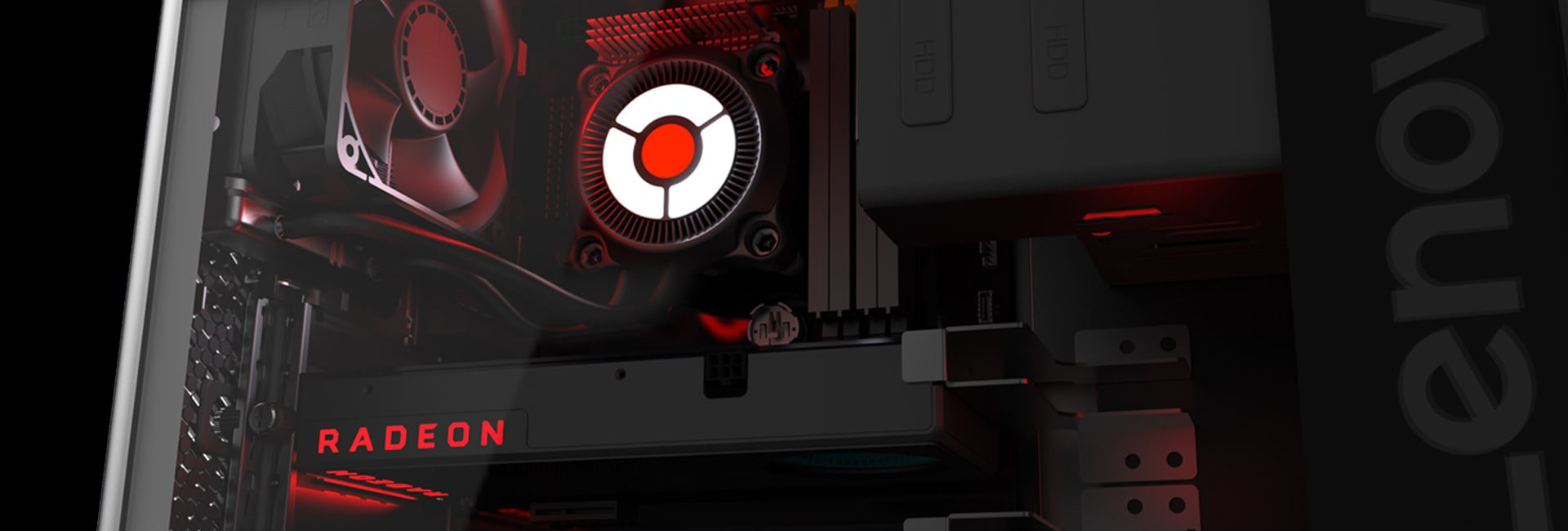 Close-up of fan inside Lenovo Legion gaming PC