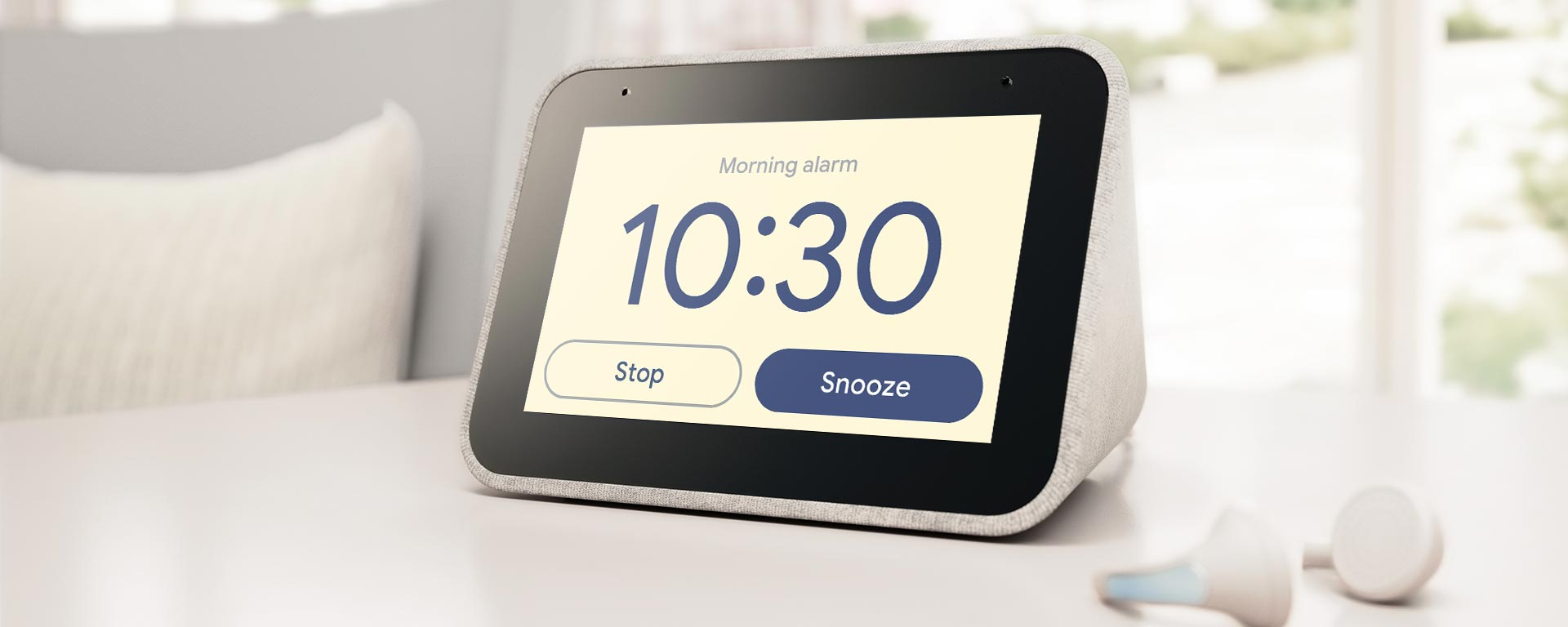 lenovo smart clock morning alarm