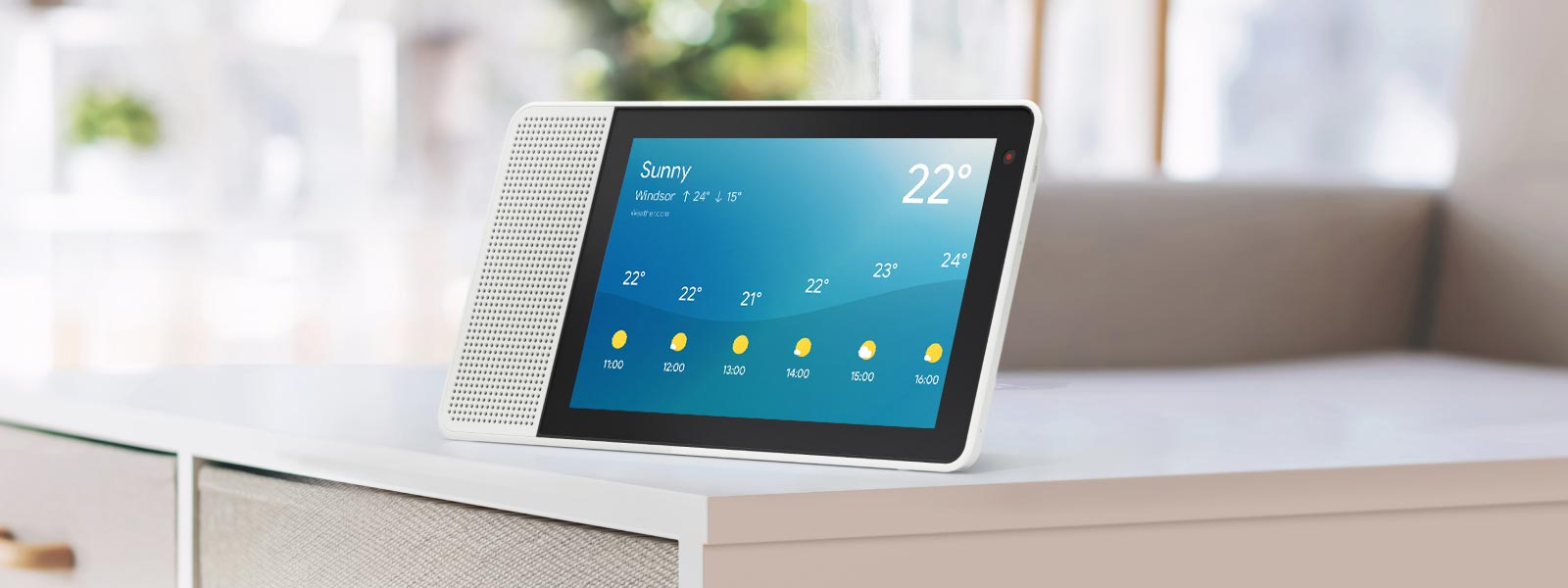 Lenovo Smart Display prepares you to meet your day with weather forecast.