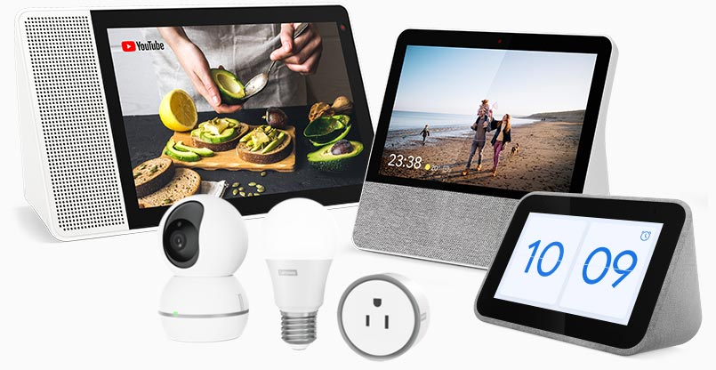 Build up your smart home with Lenovo's family of Smart Essentials