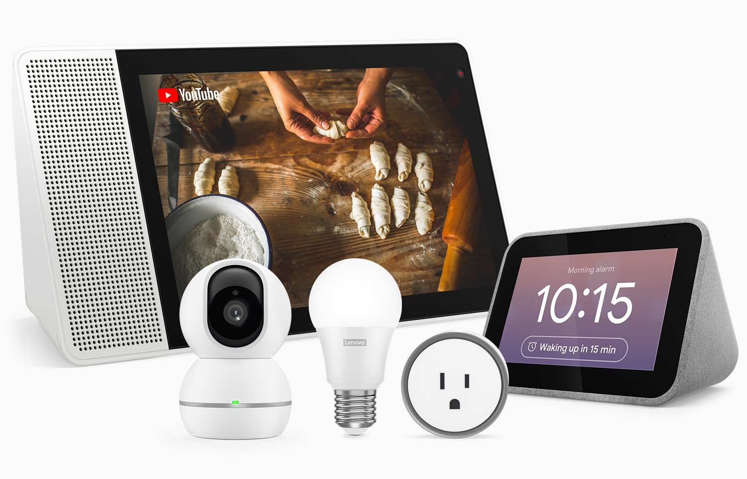 Lenovo Smart Home Products with Lenovo Smart Display