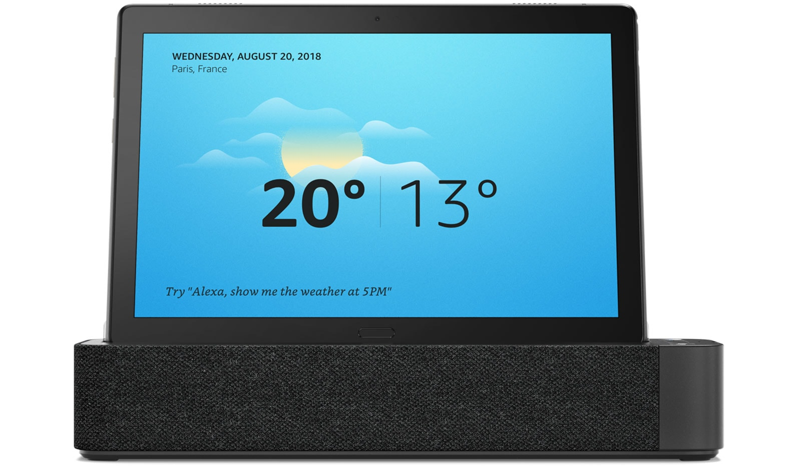Lenovo Smart Tab with weather