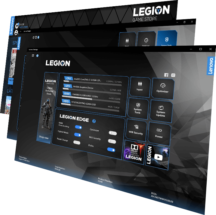 Lenovo Vantage for Gaming PC's | Legion Gaming Store for