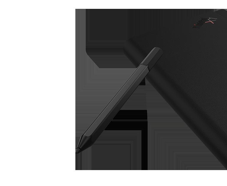 Lenovo Mod Pen och ThinkPad X1 Fold sedd bakifrån