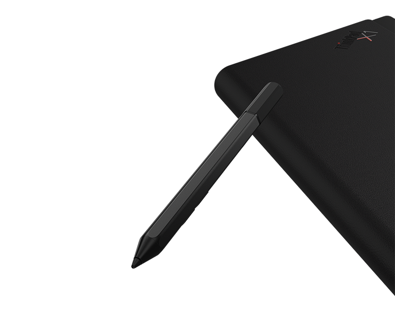 Lenovo Mod Pen y vista posterior del ThinkPad X1 Fold