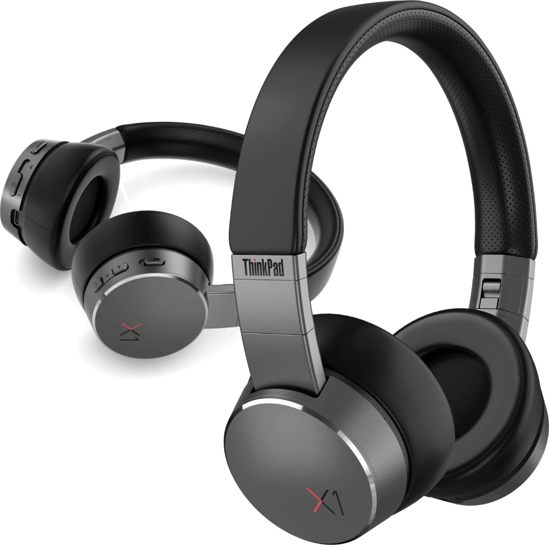 Lenovo ThinkPad X1 ANC headphones closeup view