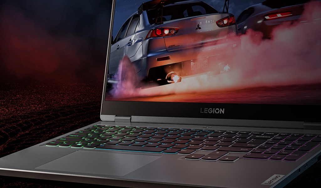 Close view of a gun inside of a laptop screen
