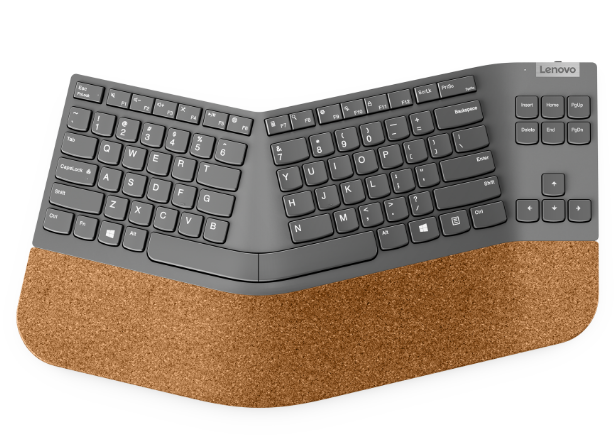 Беспроводная разделенная клавиатура Lenovo Go: вид спереди