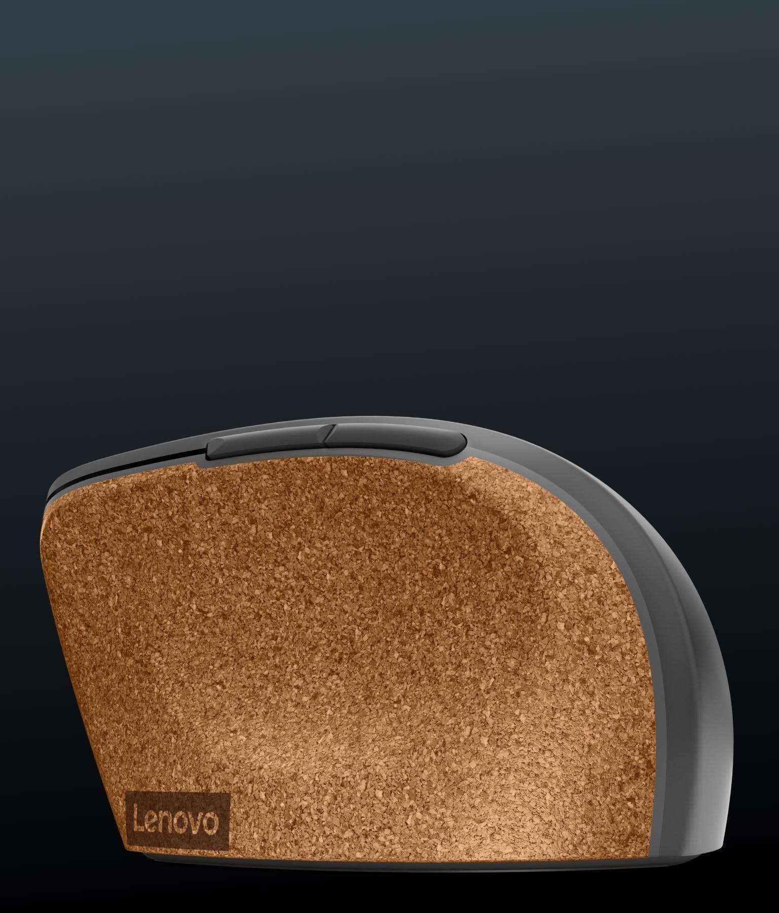 Lenovo Go Wireless Vertical Mouse left side profile