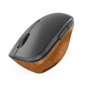 Lenovo Go Wireless Vertical Mouse top view angled downward and to the left