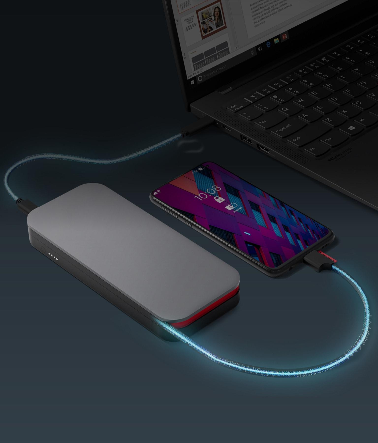 Портативний акумулятор для ноутбуків Lenovo Go USB-C (20000 мАг)