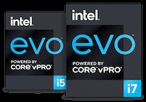 Intel Evo vProCore i5, logo de la famille i7