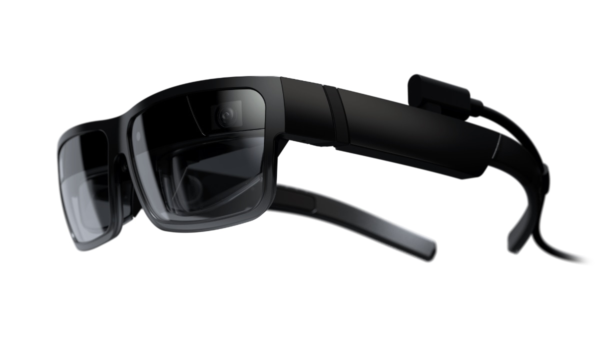 Lenovo ThinkReality A3 smart glasses – ¾ front-left side view