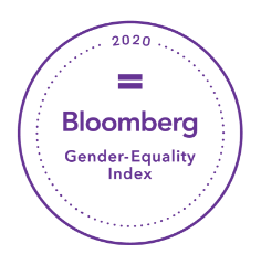 a circle with the word: Bloomberg 2020 Gender Equality Index
