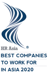a logo look like storm, saying Best Companies to work for in asia 2020
