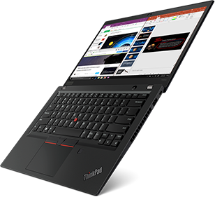 ThinkPad T495s Open Flat View