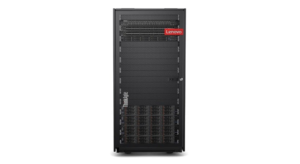 Lenovo ThinkSystem server, front view
