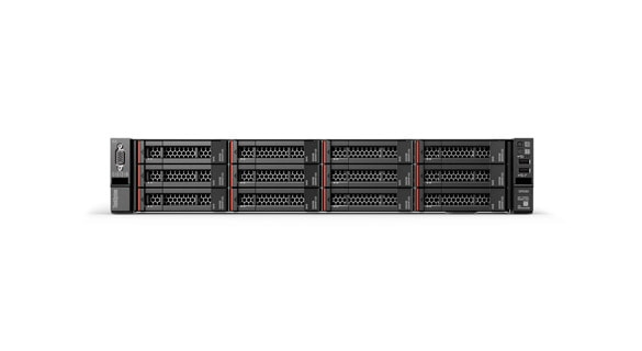 Lenovo ThinkSystem-server sett bakfra