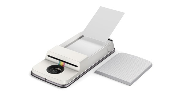 Polaroid insta-share printer moto mod opened