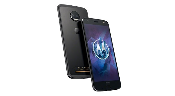 Moto z2 force smartphone front right angle