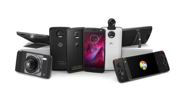 Moto z2 force smartphone with mods