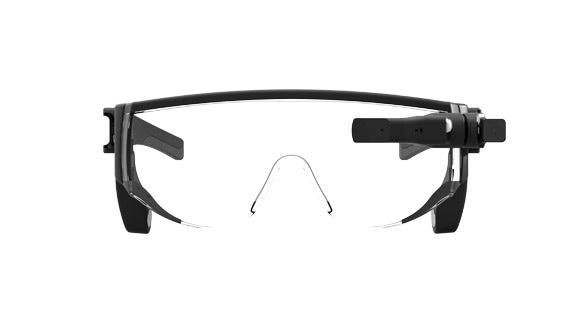 Lenovo New Glass C210 augmented reality glasses, front view