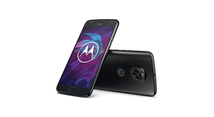 smartphone moto x4, pohľad zozadu a spredu