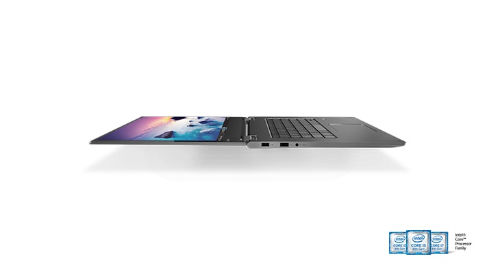 Lenovo Yoga 730 2-in-1 laptop front angle view in laptop mode