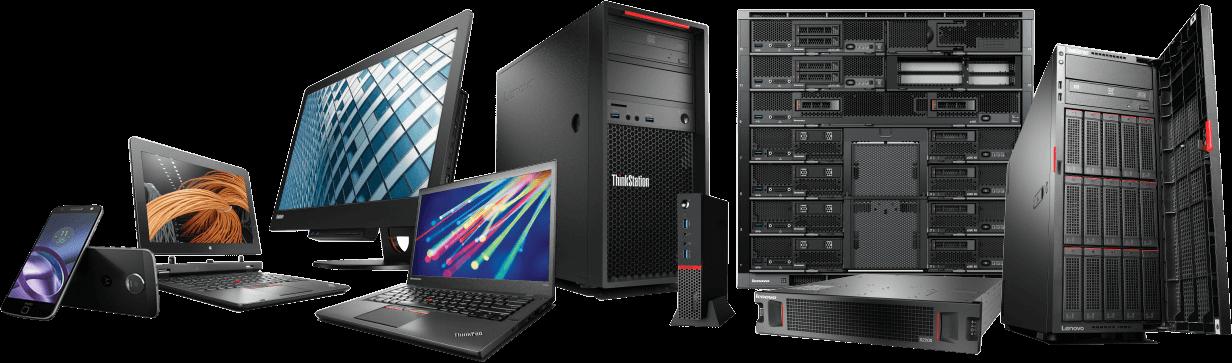 Portefólio de produtos Lenovo