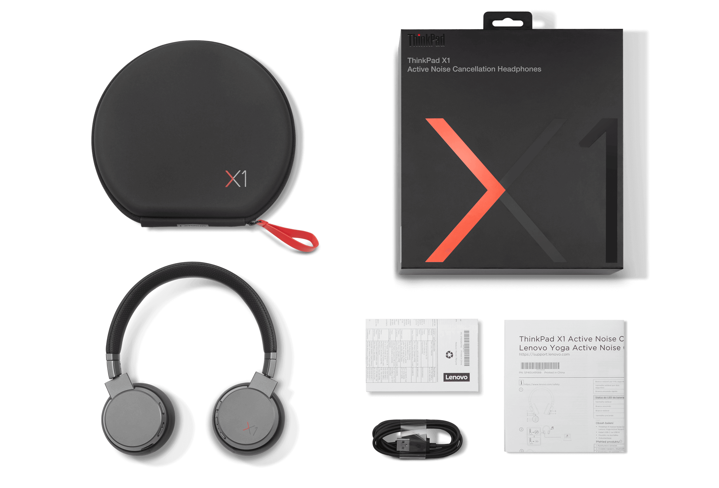 ThinkPad X1 ANC Headphones Whats in the Box View