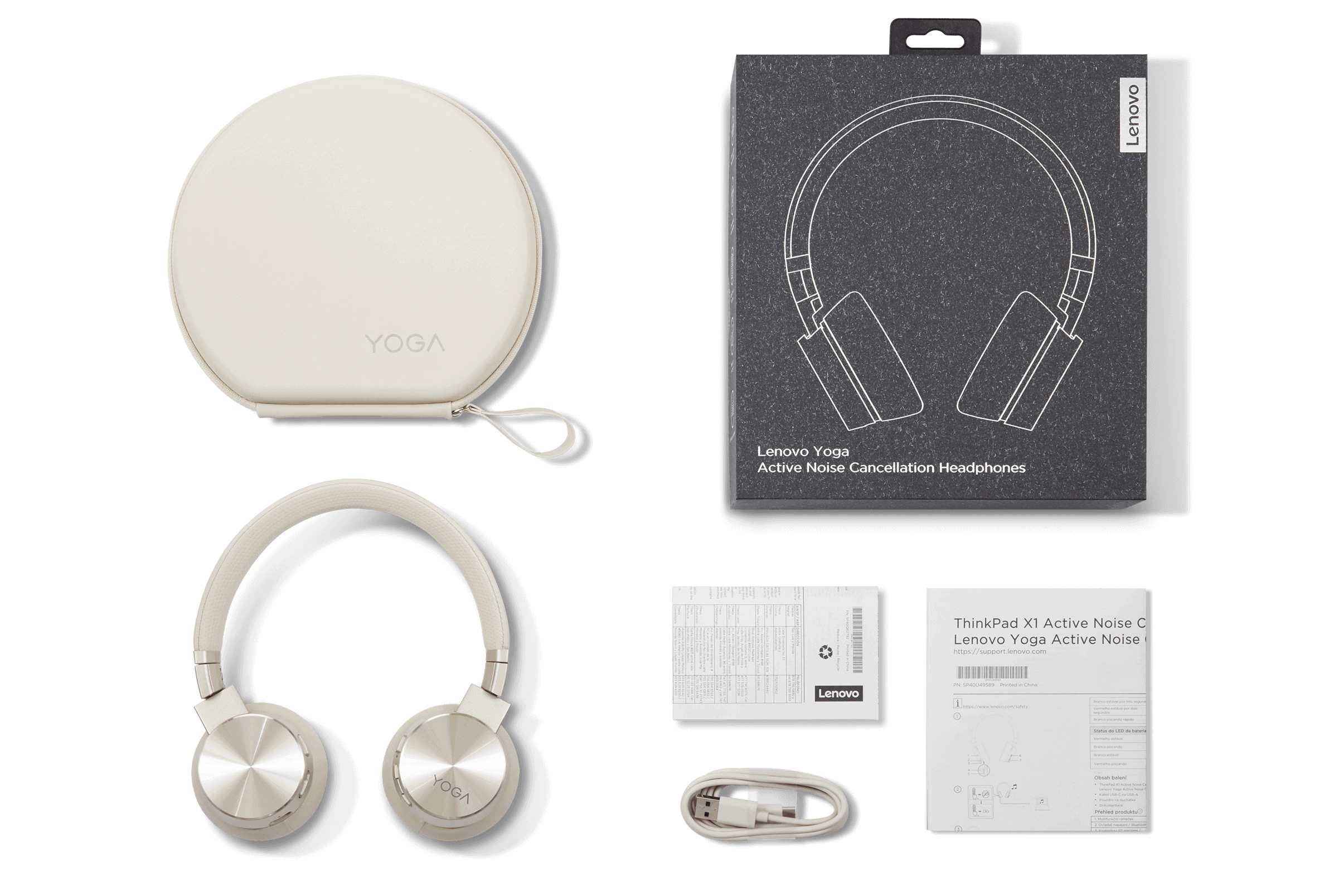 Lenovo Yoga ANC Headphones What's in the Box View