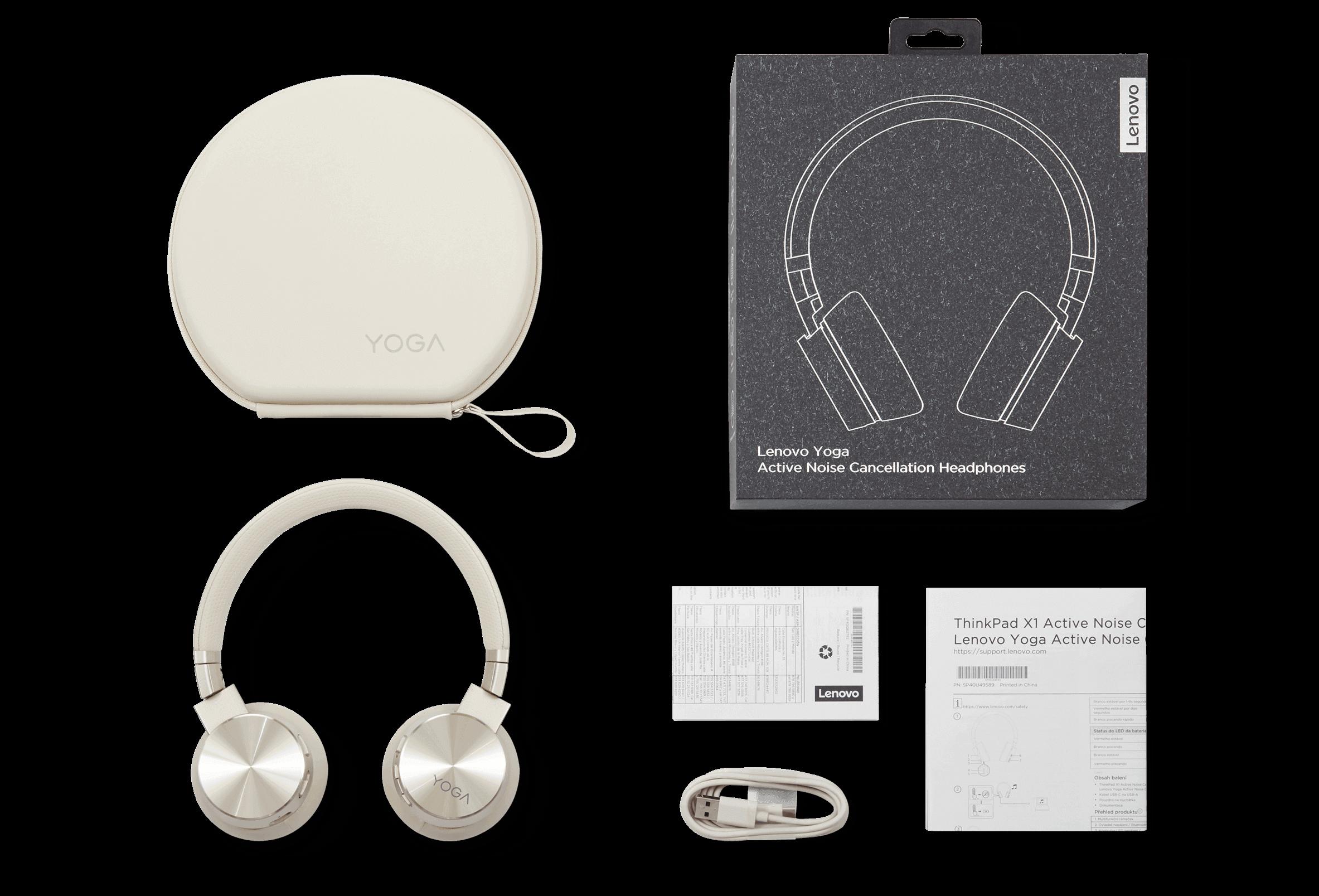 Слушалки Lenovo Yoga ANC- изглед, какво има в кутията