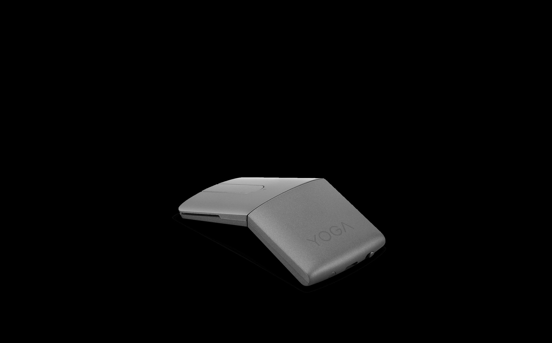 Mysz Lenovo Yoga z prezenterem laserowym — skręcona z boku