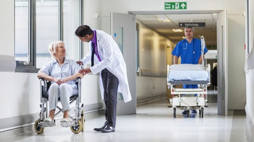 Hospital with patients