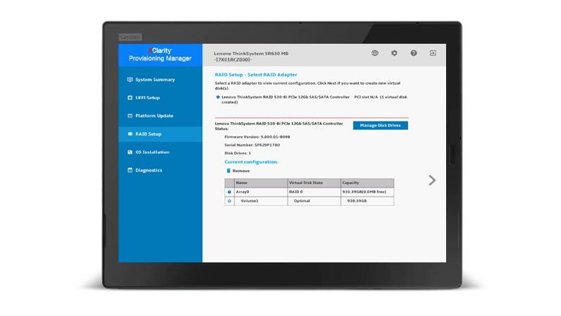 Lenovo XClarity Provisioning Manager