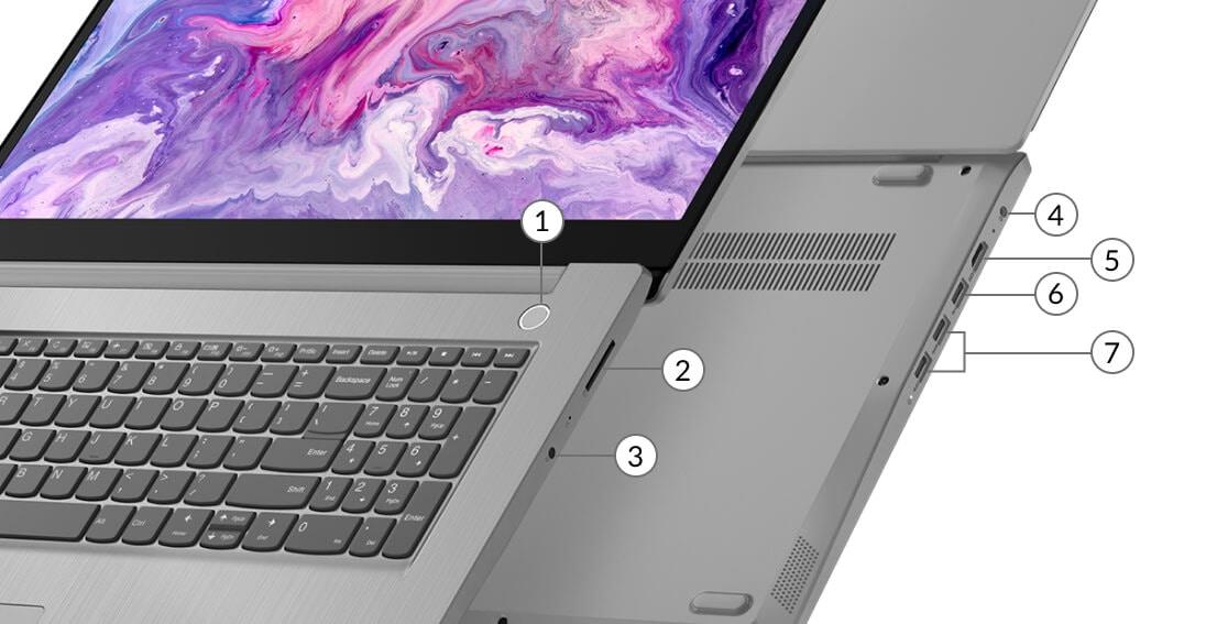 Lenovo IdeaPad IdeaPad 3 (17) AMD ports
