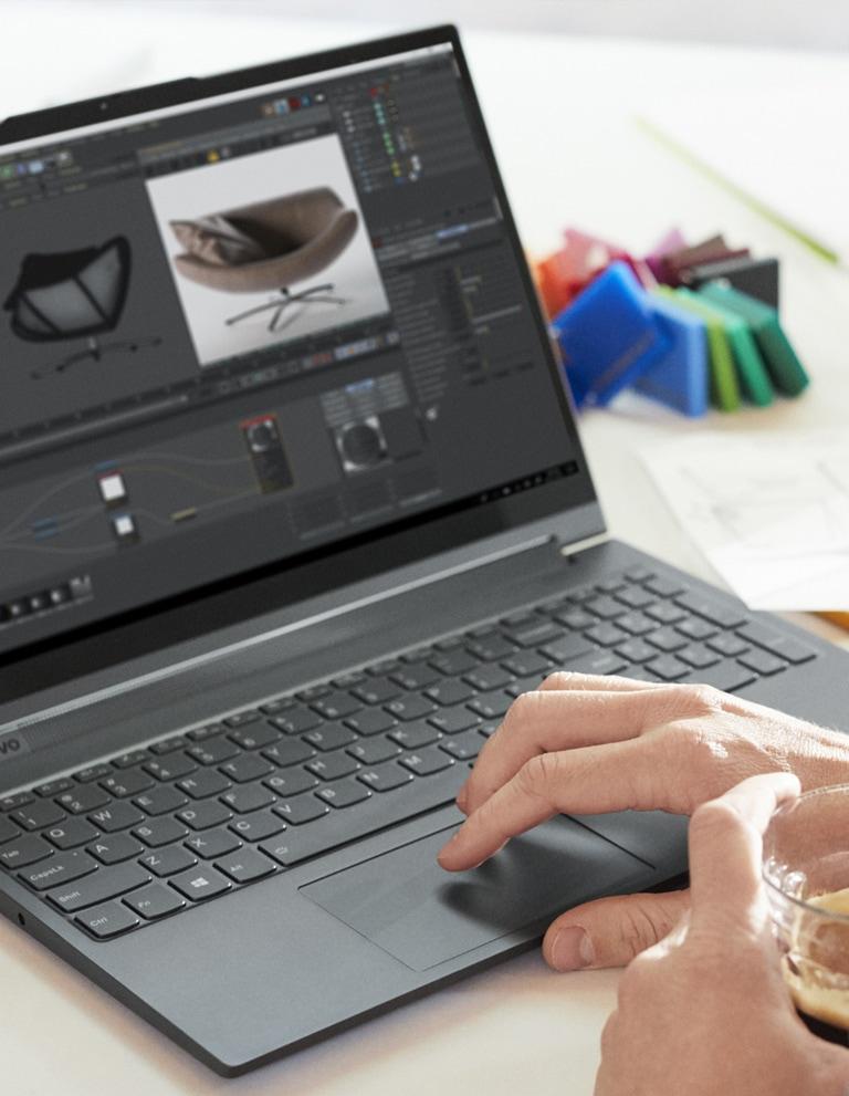 Yoga C940 Lifestyle Image Workspace